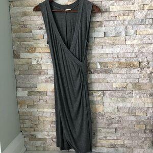Mendocino Ooyoo bodycon faux wrap T shirt dress